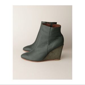 Rachel Comey green Rogue wedge booties 37